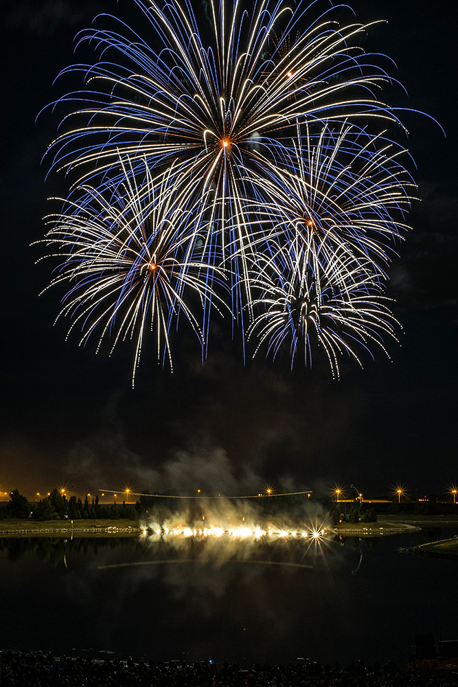France's fireworks display at GlobalFest Calgary AB Canada