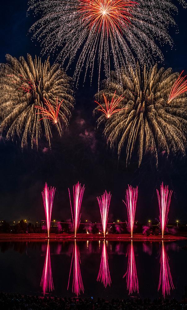 France's fireworks display at GlobalFest Calgary AB Canada