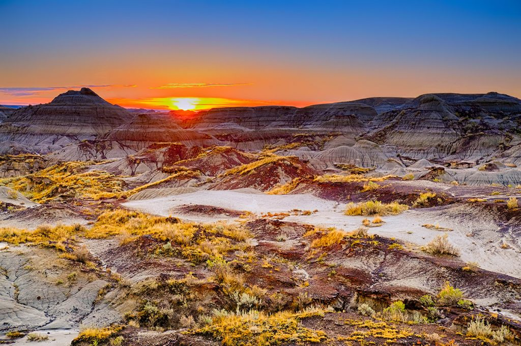 Sunrise Over Dinosaur Provincial Park