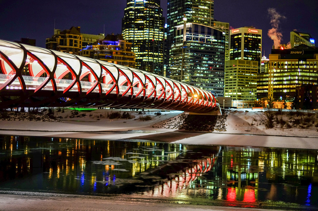 Peace Bridge over the Bow River