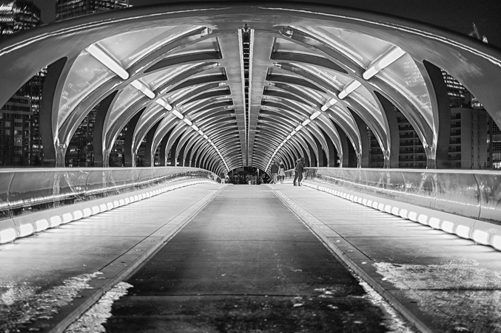 Peace Bridge in B&W