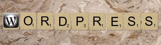 WordPress Scrabble Letters
