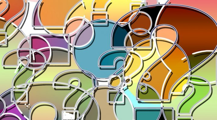 colorful question mark montage